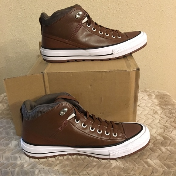 238d85a75055 Converse High Top brown leather men s 10